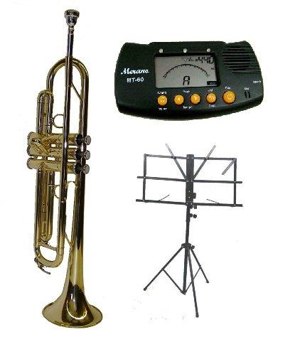 Merano B Flat Gold Trumpet